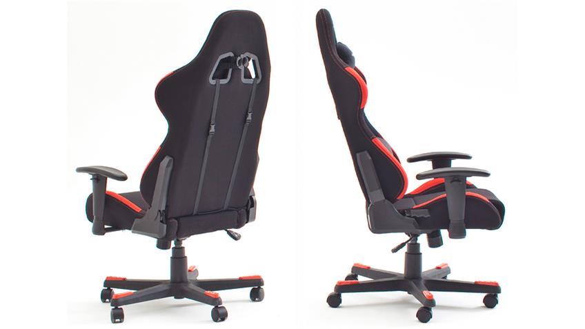 Schreibtischstuhl Bürostuhl DX RACER 1 schwarz rot Game Chair