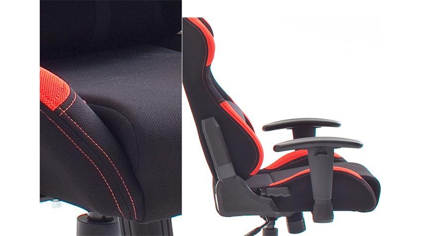 Bürosessel Game Chair DX RACER 1 Bürostuhl in Schwarz und Rot