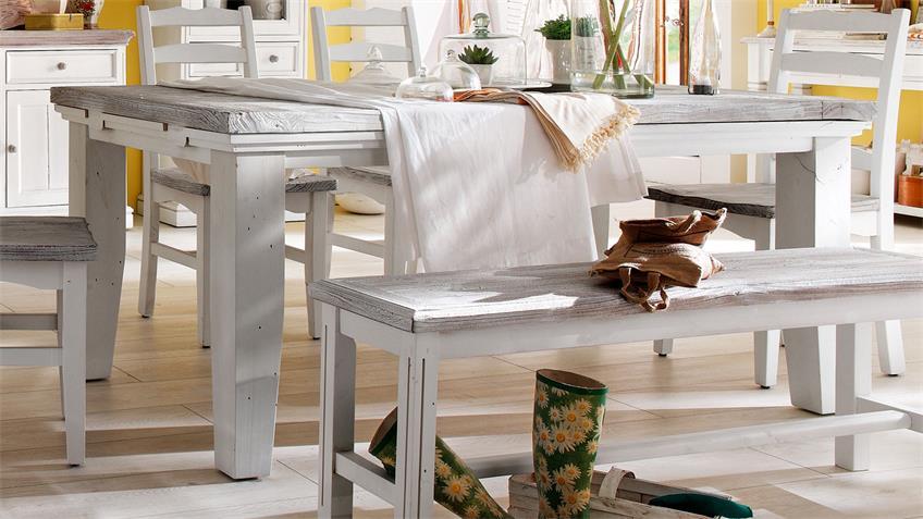 Tisch OPUS 140 cm Landhaus Kiefer massiv vintage used Look