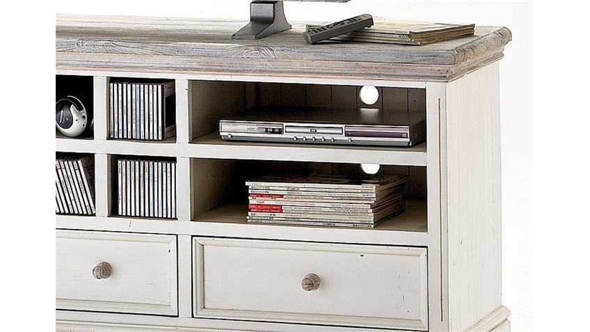 tv lowboard opus aus massivem kiefer in wei vintage look. Black Bedroom Furniture Sets. Home Design Ideas