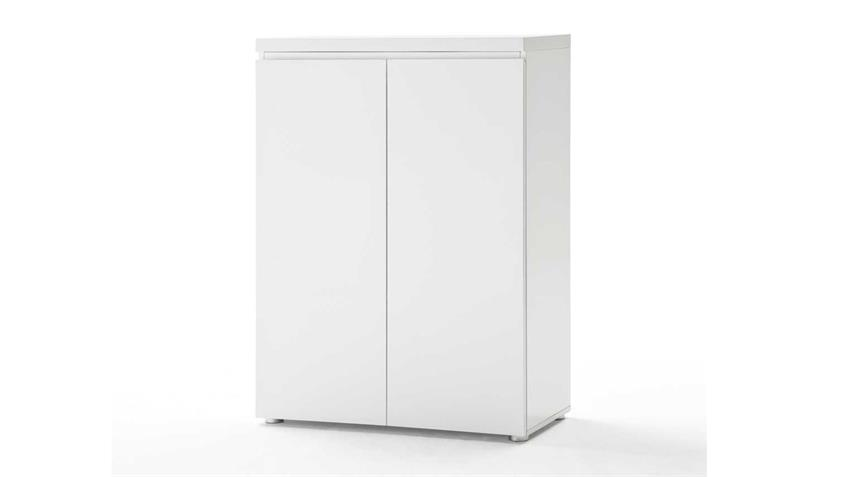 Büroschrank SYDNEY Büro Regal in weiß Hochglanz lackiert
