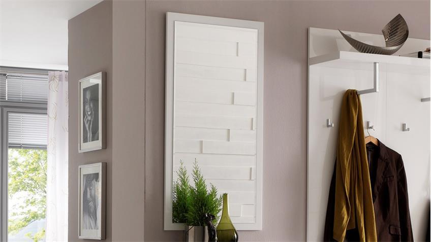 Spiegel SYDNEY Wandspiegel in weiß Hochglanz lackiert
