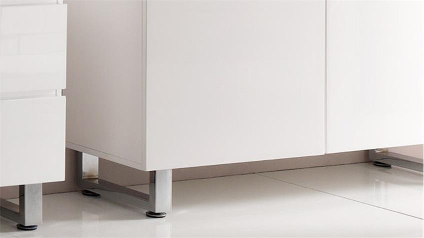 Kommode SYDNEY in weiß Hochglanz lackiert mit 2 Türen