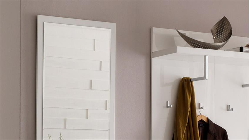 Garderobe 1 SYDNEY Flurmöbel in weiß Hochglanz lackiert 4-teilig
