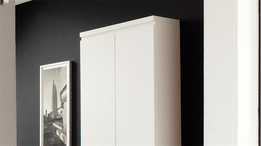 Garderobe 3 SYDNEY Flurmöbel in weiß Hochglanz lackiert 4-teilig