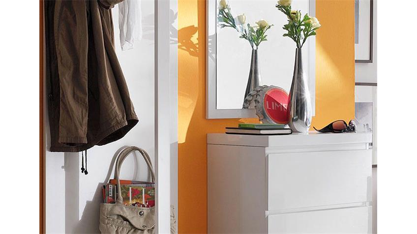Garderobenset SYDNEY 4 Garderobe 3 teilig in weiß hochglanz