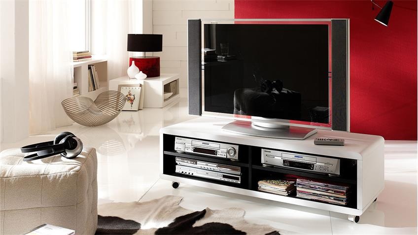 tv board jeff lowboard unterschrank fernsehschrank wei. Black Bedroom Furniture Sets. Home Design Ideas