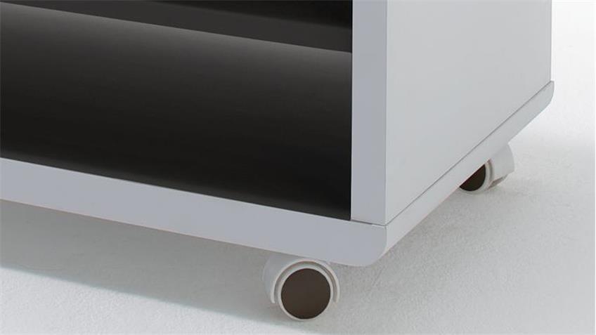 TV-Board JEFF Lowboard Unterschrank Fernsehschrank weiß schwarz 79 cm