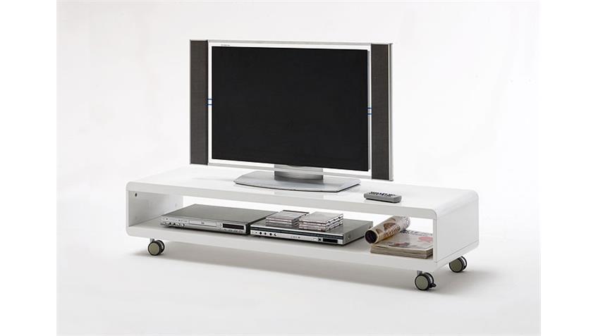 TV Board CELINE Lowboard in Weiß Hochglanz lackiert
