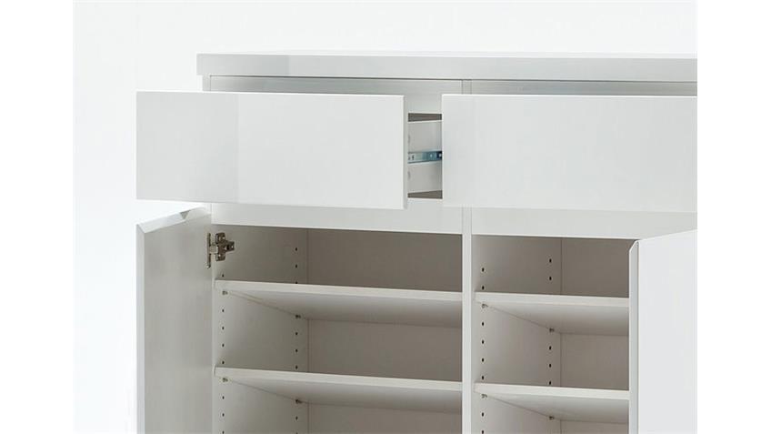 schuhschrank sydney iii wei hochglanz lackiert. Black Bedroom Furniture Sets. Home Design Ideas