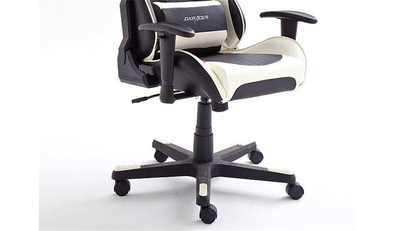 Schreibtischstuhl Bürostuhl DX RACER 6 in schwarz und weiß