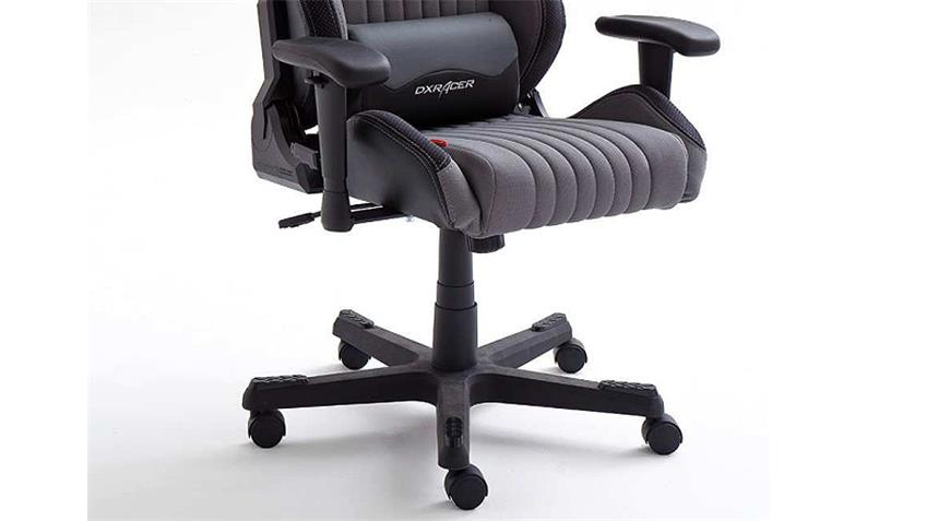 Schreibtischstuhl Bürostuhl DX RACER 7 Stoff grau Carbon