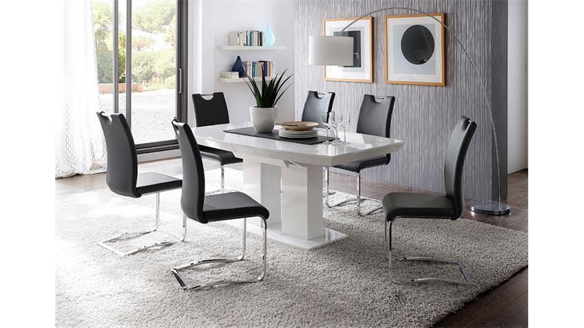 stuhl k ln freischwinger 4er set in schwarz und chrom. Black Bedroom Furniture Sets. Home Design Ideas
