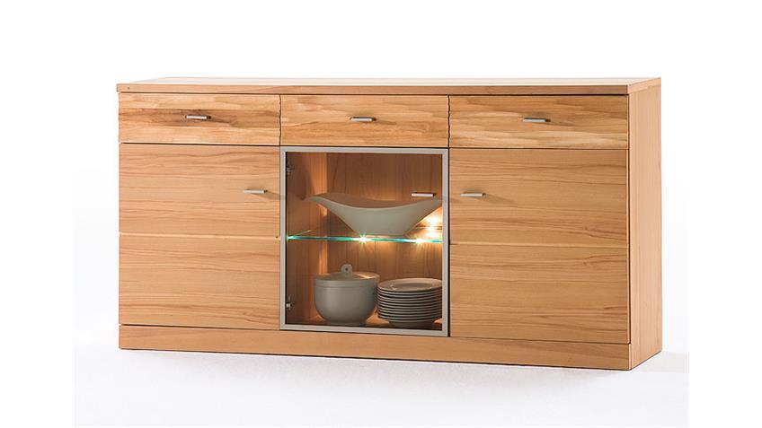 Sideboard 3-türig MADEA/MADERAS Glas Kernbuche geölt 181x92