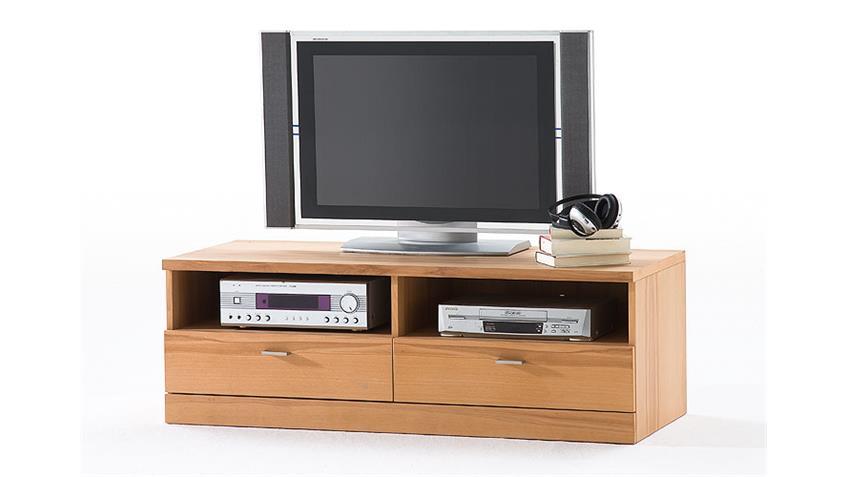 TV Element MADEA/MADERAS 2 Schubkästen Kernbuche 135x43