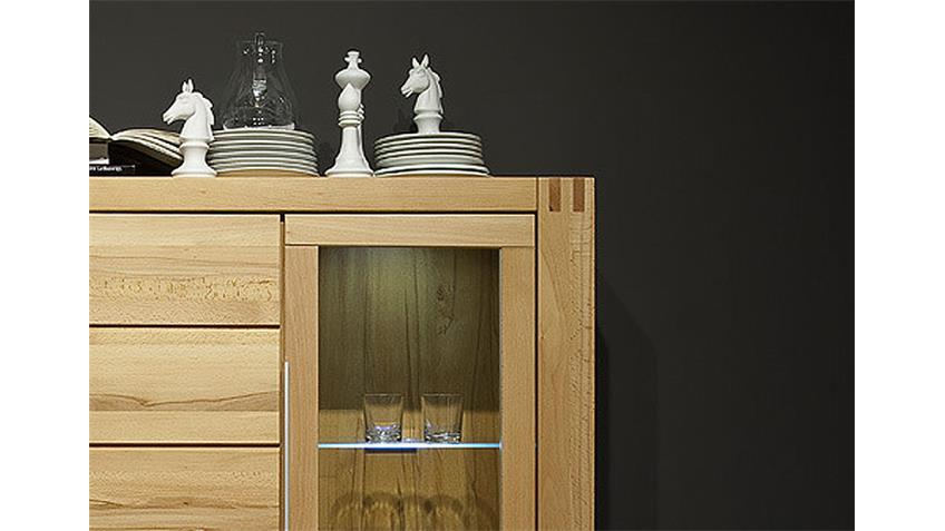 Highboard I GIANT Kernbuche Wachseffektlack