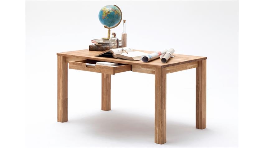 Schreibtisch Büro CENTO Asteiche massiv geölt 1 Schubkasten