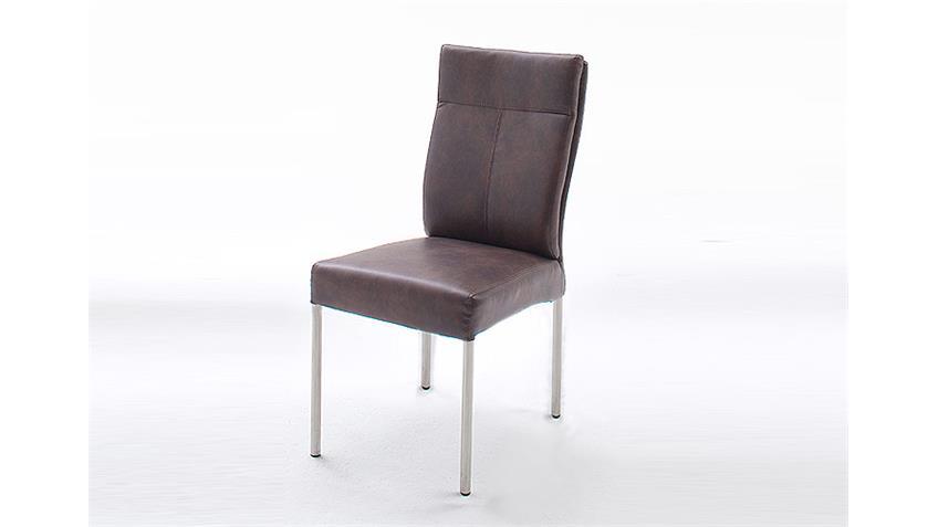 6er Set Stuhl EDWARD IV Dunkelbraun Vintage