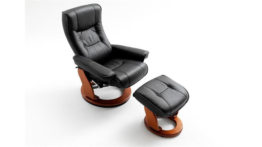 relaxsessel hamilton leder schwarz honig inkl hocker. Black Bedroom Furniture Sets. Home Design Ideas