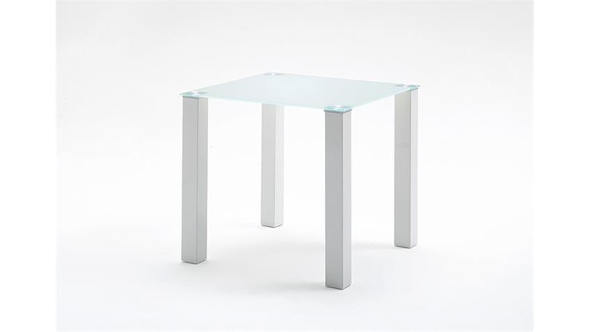 Tisch HANNA Esstisch Küchentisch weiß hochglanz Glas 80 cm