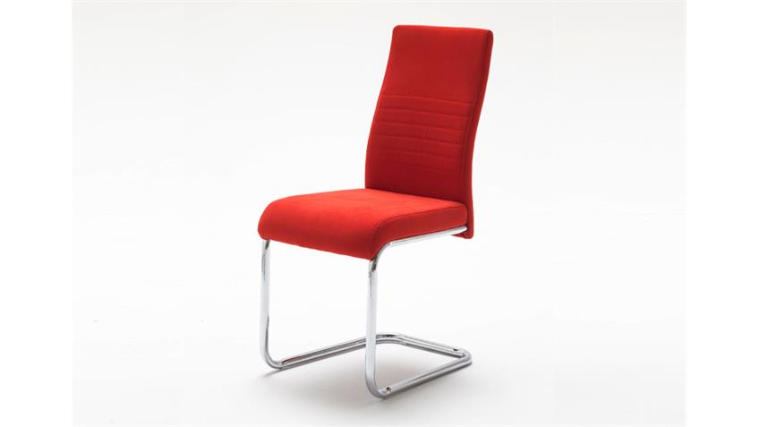 schwingstuhl jonas esszimmerstuhl 4er set in rot chrom. Black Bedroom Furniture Sets. Home Design Ideas