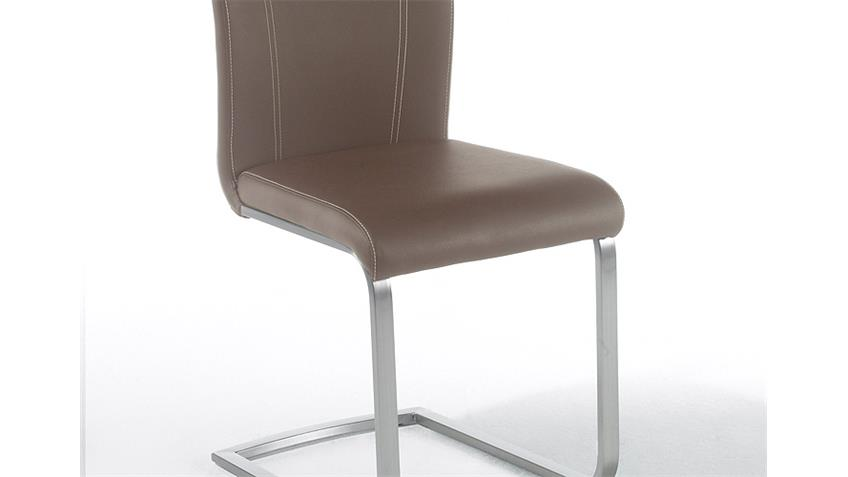 stuhl pavo 4er set esszimmerstuhl cappuccino und edelstahl. Black Bedroom Furniture Sets. Home Design Ideas