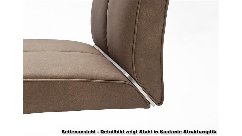 Schwingstuhl 2er-Set LOUNGE B Braun Glanz Edelstahl
