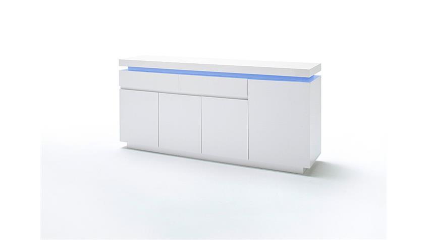 Sideboard OCEAN Weiß Hochglanz inkl. RGB-Beleuchtung 175 cm