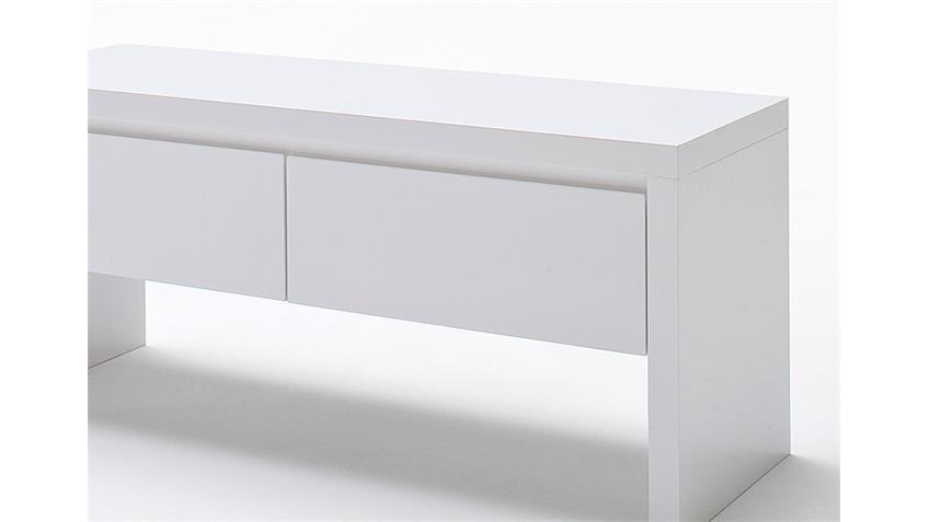 Bank Ocean Gardeobenbank in weiß Hochglanz lackiert