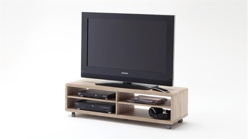 TV-Board JEFF Lowboard Unterschrank in Sonoma Eiche Sägerau 120 cm
