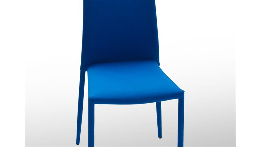 Stuhl MILA Stapelstuhl Esszimmerstuhl 6er Set in Petrol Blau