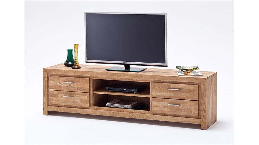 TV-Board 2 SANTOS Lowboard Asteiche massiv geölt gewachst