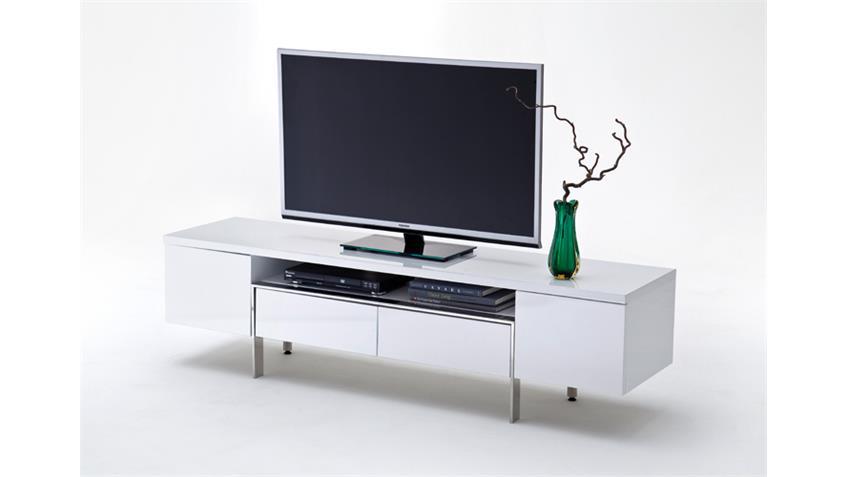 TV Board LUISA in weiß Hochglanz lackiert
