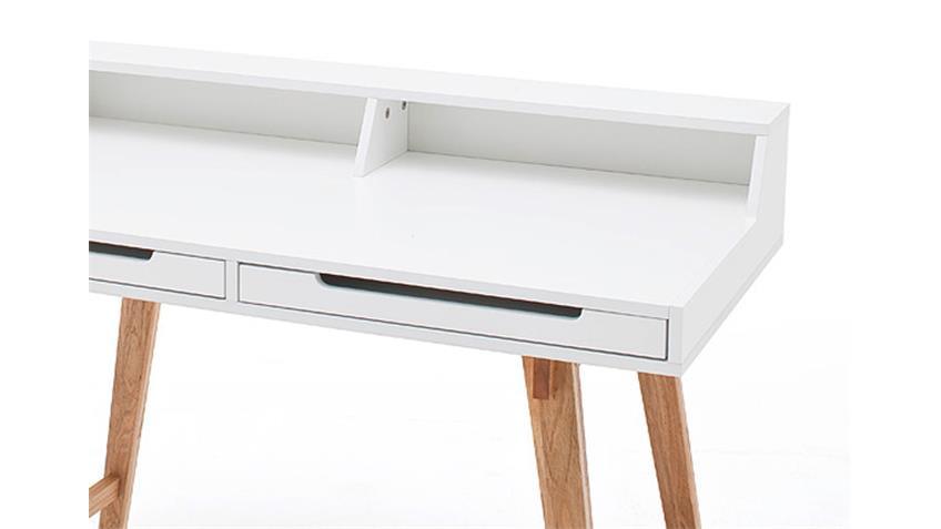 Schreibtisch TIFFY weiß Buche Laptoptisch