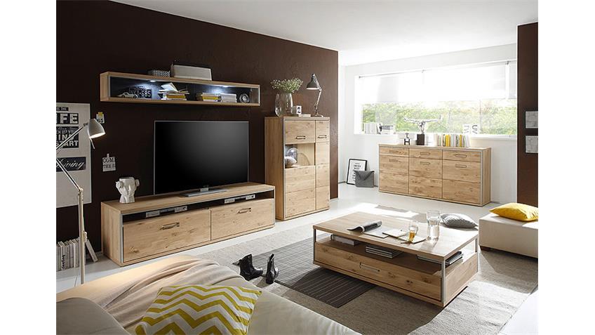 TV-Board 3 ESPERO TV-Unterschrank in Ast-Eiche teilmassiv