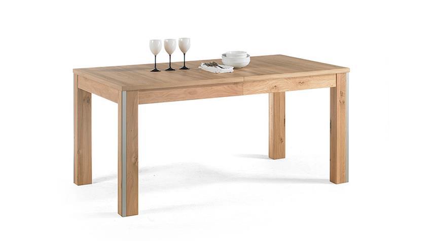 Esstisch ESPERO Tisch Ast-Eiche furniert ausziehbar 160-260