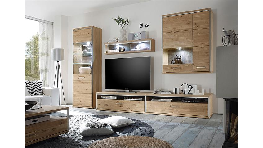 wohnwand 2 espero in ast eiche bianco teilmassiv ge lt. Black Bedroom Furniture Sets. Home Design Ideas