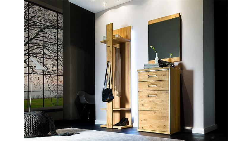 Spiegel ESPERO Wandspiegel in Ast-Eiche Bianco massiv 64 cm