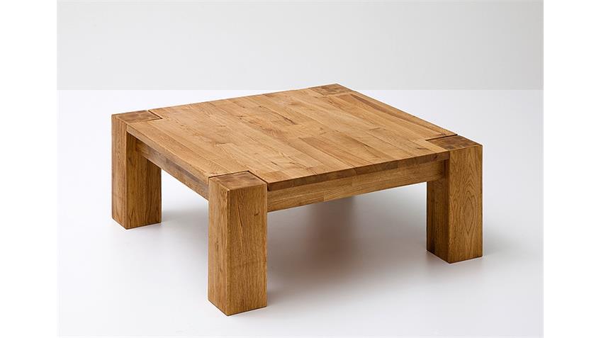 Couchtisch ALLEN Asteiche Massivholz keilverzinkt 85x85 cm