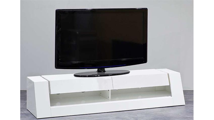 TV Board FRONT 1 MDF weiß Hochglanz lackiert