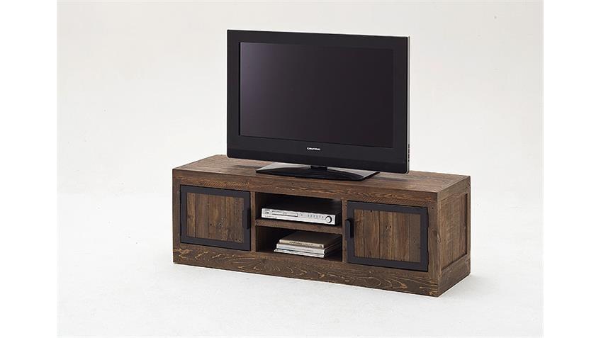 TV-Board 1 FINCA Lowboard recycle Kiefer antik braun Lack
