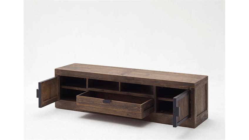 TV-Board 2 FINCA Lowboard recycle Kiefer antik braun Lack