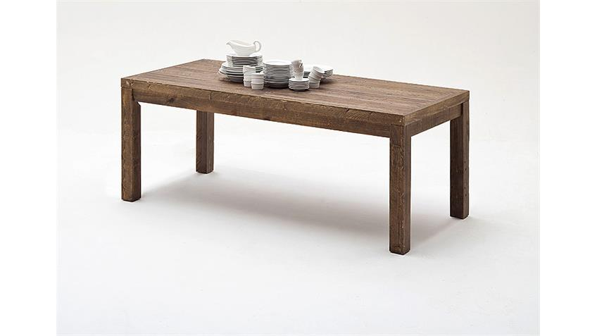 Esstisch FINCA Tisch recycle Kiefer antik braun Lack 160 cm
