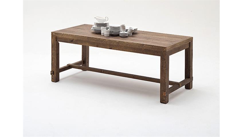 Esstisch 2 FINCA Tisch in recycle Kiefer braun Lack 200 cm