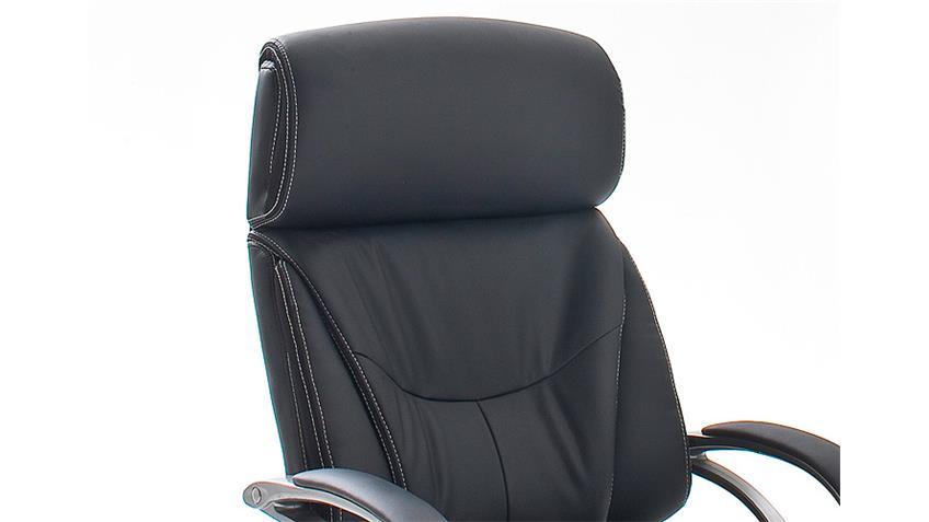 Drehstuhl BEN schwarz und silber inkl. Gaslift bis 150 kg