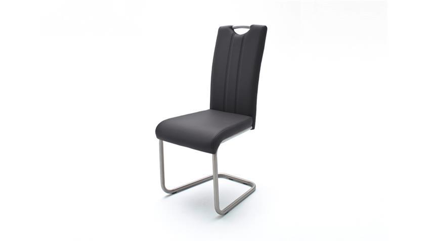 Schwingstuhl 4er Set Marie Stuhl in schwarz und Edelstahl