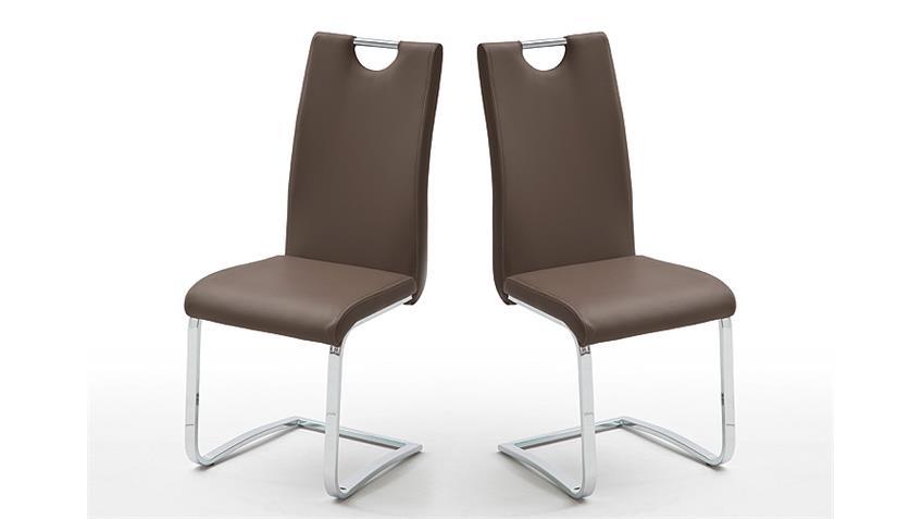 schwingstuhl 4er set elly esszimmerstuhl stuhl in braun. Black Bedroom Furniture Sets. Home Design Ideas