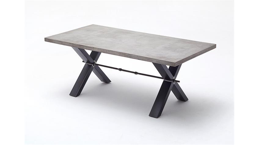 Esstisch GAVI Tisch Esszimmertisch in Betonoptik 200 cm