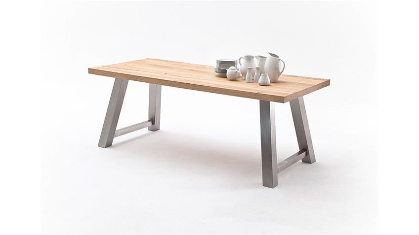 Esstisch 1 ALVARO Tisch Crack Eiche natur massiv 220 cm