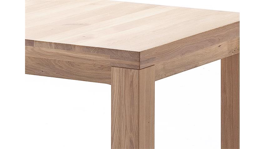 Esstisch ARENTS Tisch Eiche Bianco massiv geölt ausziehbar